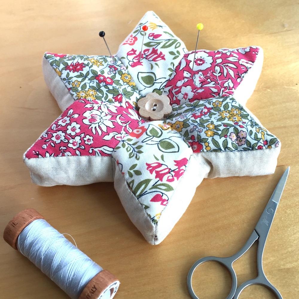 EPP Star Pincushion Kit in Liberty Pinks - English Paper-Piecing Pincushion