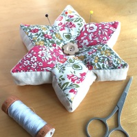 EPP Star Pincushion Kit in Liberty Pinks - English Paper-Piecing Pincushion Kit