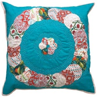<!-- 003 -->Overlapping Circles Cushion Liberty Pinks - English Paper-Piecing Cushion Kit