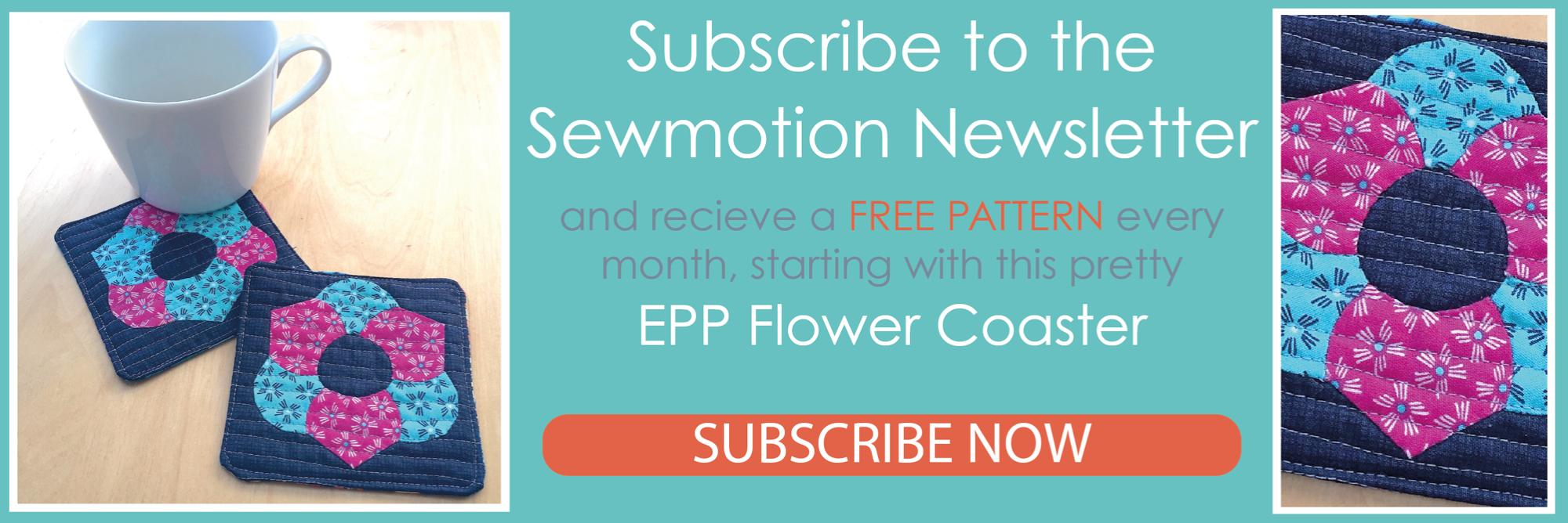 Newsletter free pattern coasters Feb2020