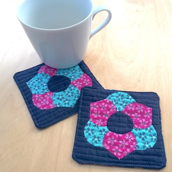 EPP Flower Coasters Kit (Pair) - English Paper-piecing Kit