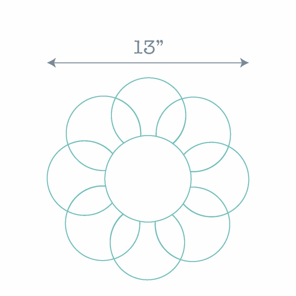 Clamshell Flower Ring Paper Pieces - 48 Pre-cut Papers for Curved English P