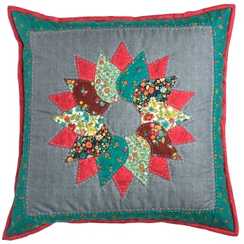 Wreath Cushion Pattern - Includes pre-cut papers