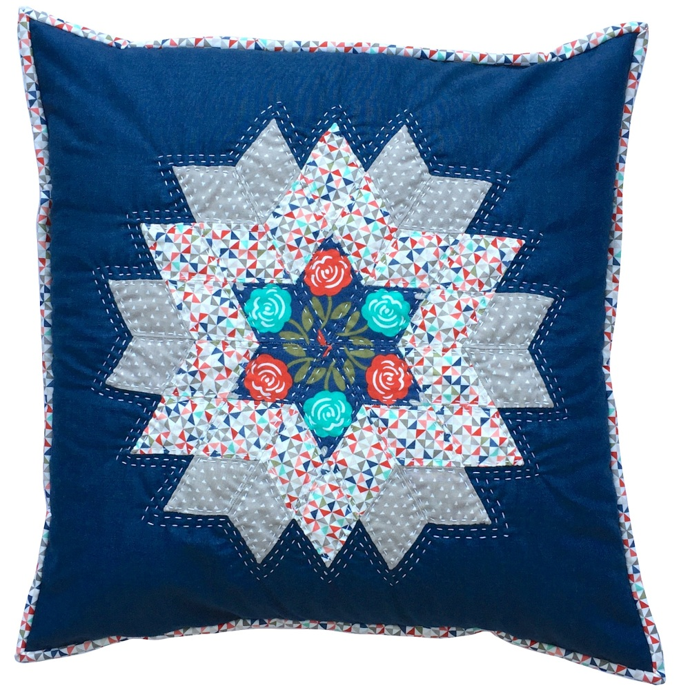 <!-- 001 -->Diamond Star Cushion Kit in Blue & Red - (EPP) English Paper-Pi