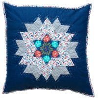 <!-- 002 -->Diamond Star Cushion Kit in Blue & Red - (EPP) English Paper-Piecing Kit