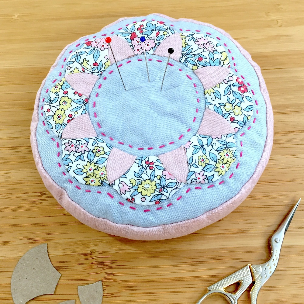 EPP Pincushion Kit in Liberty Pink - Patchwork Pincushion Kit