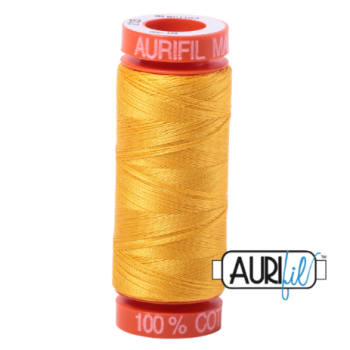 Aurifil Mako 50 Cotton / 200m - Yellow - 2135