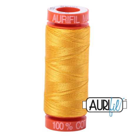 <!-- 001 -->Aurifil Mako 50 Cotton / 200m - Yellow - 2135