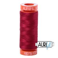 <!-- 002 -->Aurifil Mako 50 Cotton / 200m - Red Wine - 2260