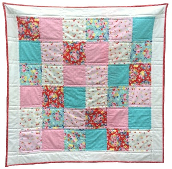 Quick & Easy Quilt Kit in Bluebirds on Roses - Beginner's Quilt Kit, Easy Quilt