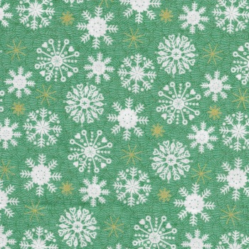 Merry Snowflakes Green 2115-G