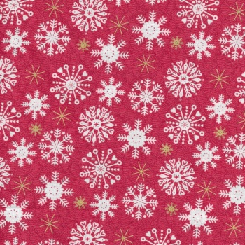 Merry Snowflakes Red 2115-R