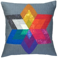 <!-- 003 -->Diamond Star Cushion Kit in Sun Prints - (EPP) English Paper-Piecing Kit