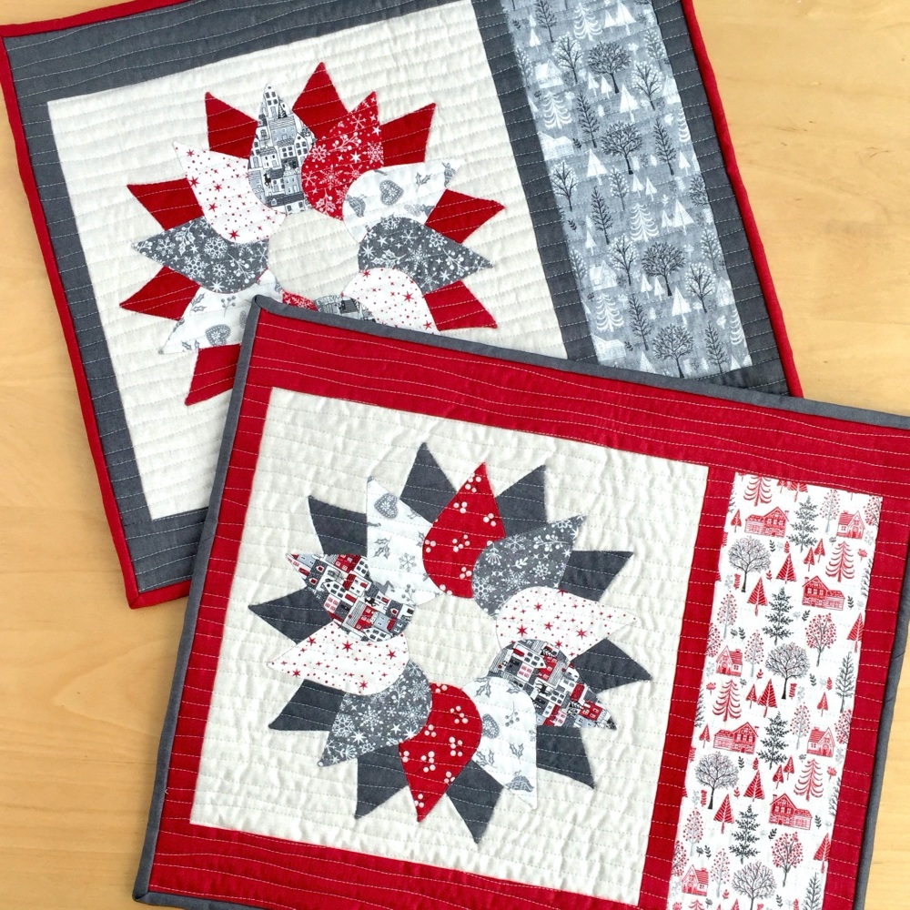 <!-- 001 -->Scandi Christmas Wreath Table Mats Kit (2020)