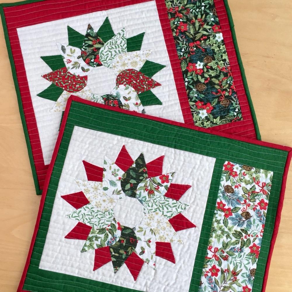 <!-- 001 -->Yuletide Christmas Wreath Table Mats Kit (2020)