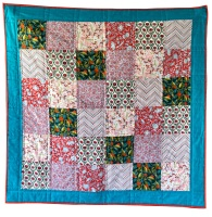 <!-- 001 -->Quick & Easy Quilt Kit in Liberty Pink Summerhouse - Beginner's Quilt Kit, Easy Quilt