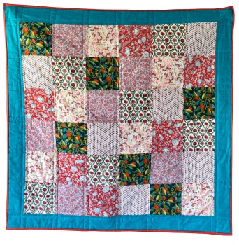 Quick & Easy Quilt Kit in Liberty Pink Summerhouse - Beginner's Quilt Kit, Easy Quilt