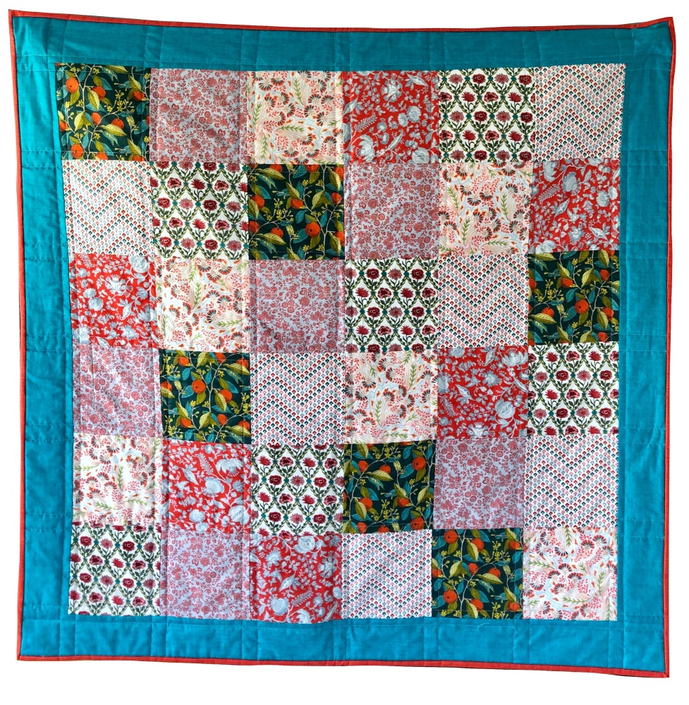 <!-- 001 -->Quick & Easy Quilt Kit in Liberty Pink Summerhouse - Beginner's