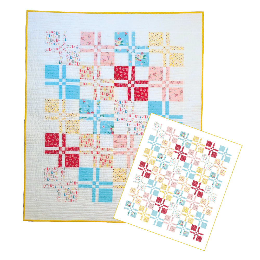 <!-- 001 -->Square Dance in the Rain Quilt Kit - Two sizes available