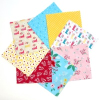 Quilter's Pre-cut 42pc Charm Pack in Riley Blake's Singing in the Rain