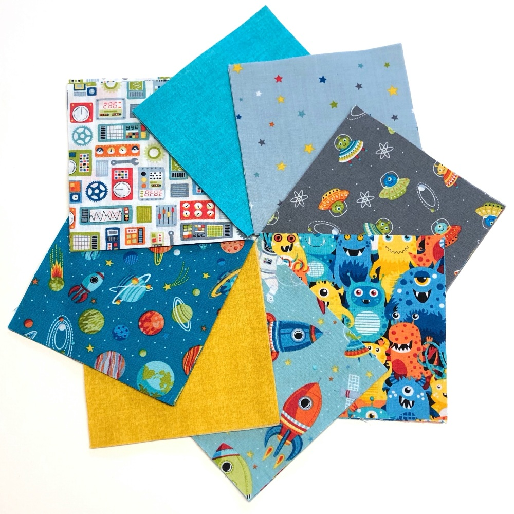 Quilter's Pre-cut 42pc Charm Pack in Outer Space