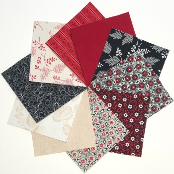 Quilter's Pre-cut 42pc Charm Pack in Garibaldi