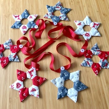 Star Bunting Pattern - Includes pre-cut papers