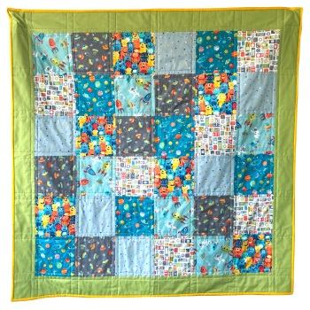 Quick & Easy Quilt Kit in Outer Space - Beginner's Quilt Kit, Easy Quilt
