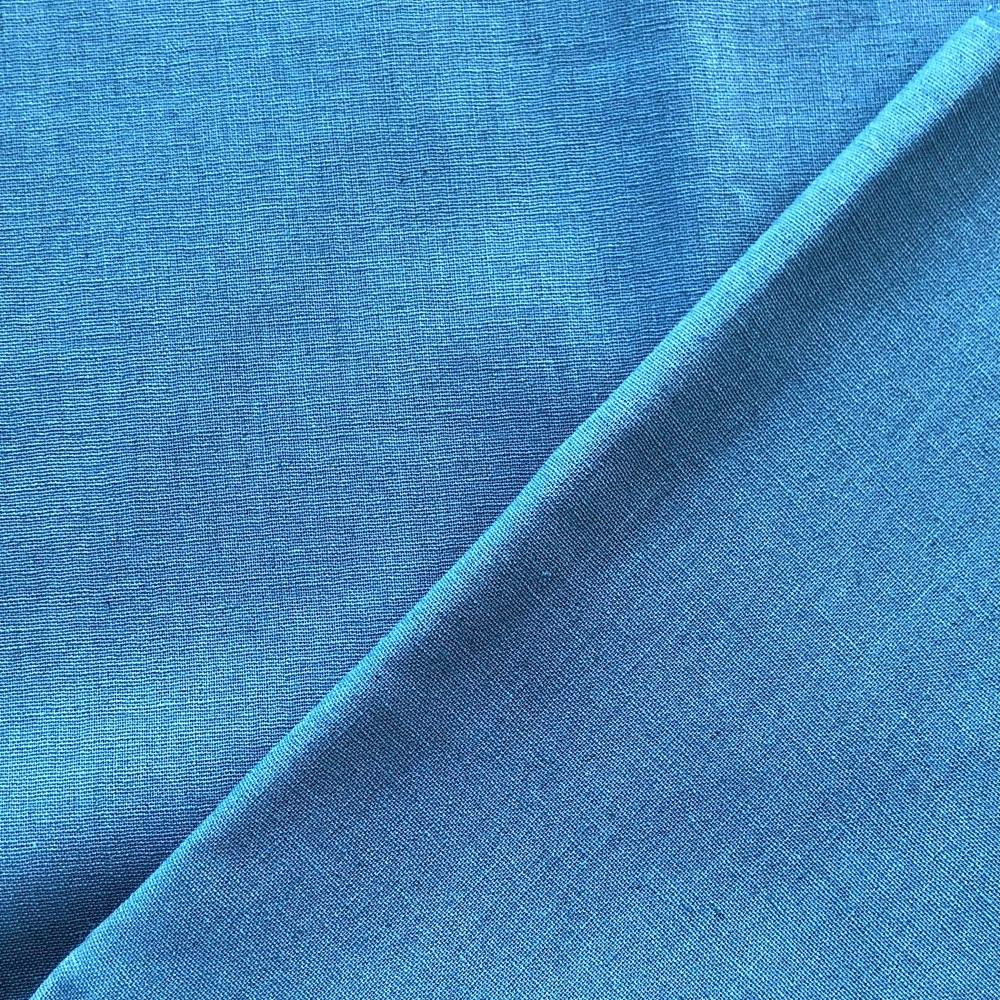 <!-- 001 -->Linen/Cotton Solid Dye in Blue