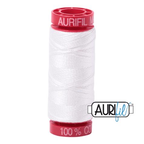Aurifil Mako 12 Cotton / 50m -  2021 - Off White