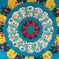 <!-- 002 -->Folksy Sun Spell Wall Hanging Kit - English Paper-Piecing kit