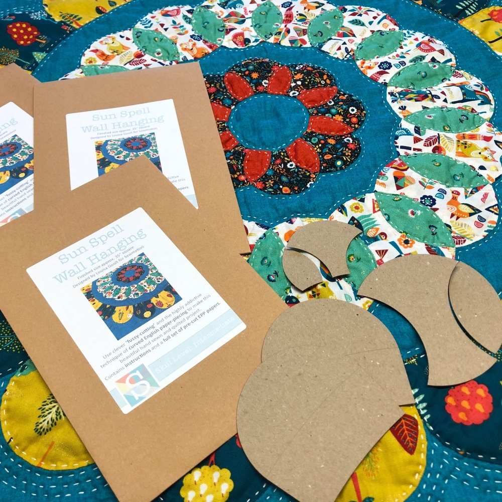 <!-- 001 -->Sun Spell Wall Hanging Kit Pattern - English Paper-Piecing