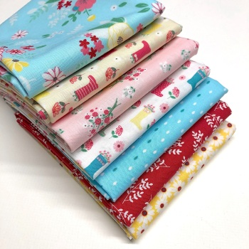 Riley Blake's Singing in the Rain Fat Quarter Bundle - 7 pieces