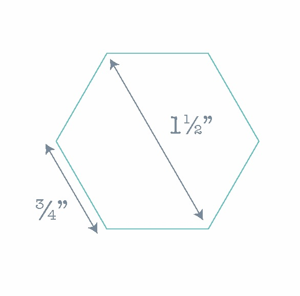 Hexagon Paper Pieces - 100 Pre-cut Papers for English Paper-piecing - 0.75