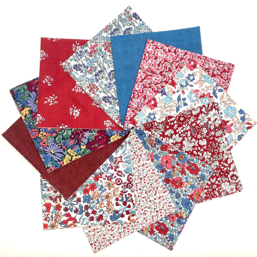 Quilter's Pre-cut 42pc Charm Pack #2 in Liberty's Winter Flower Show