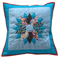<!-- 002 -->Wreath Cushion Kit in Folksy Friends - Curved English Paper-Piecing Kit, (EPP)