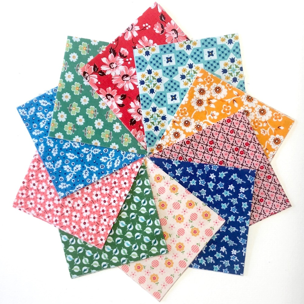 <!-- 001 -->Quilter's Pre-cut 42pc Charm Pack in Riley Blake's Flea Market