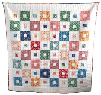 """All Squared Up Quilt Kit in Flea Market - finishes at approx. 56"""" square"""