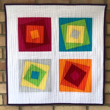 Wonky Squares Wall Hanging Kit in Spectrum Solids