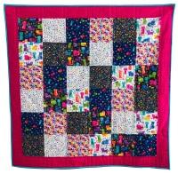 <!-- 001 -->Quick & Easy Quilt Kit in Katie's Cats - Beginner's Quilt Kit, Easy Quilt