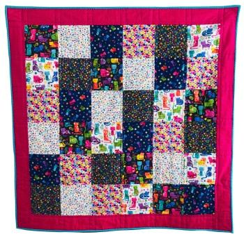 Quick & Easy Quilt Kit in Katie's Cats - Beginner's Quilt Kit, Easy Quilt