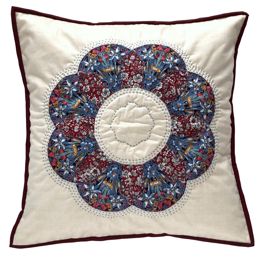 <!-- 001 -->Curved EPP Flower Cushion Kit in Liberty's Adlington Hall Winte