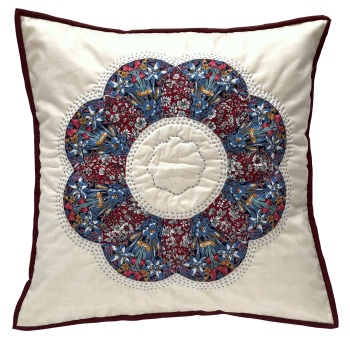 Curved EPP Flower Cushion Kit in Liberty's Adlington Hall Winter - English Paper-piecing Cushion Kit