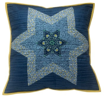 Diamond Star Cushion Kit in Liberty Blues - (EPP) English Paper-Piecing Kit
