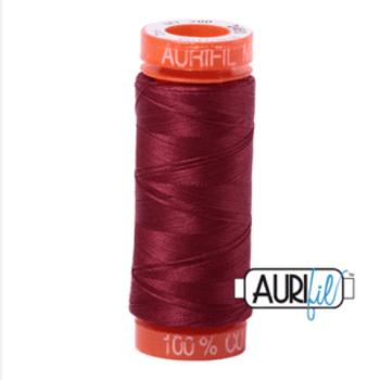 Aurifil Mako 50 Cotton / 200m - 2460 Dark Carmine Red