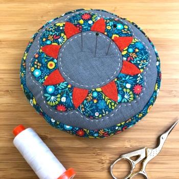 EPP Pincushion Kit in Folksy Florals - Patchwork Pincushion Kit
