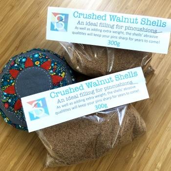 Crushed Walnut Shells - 300g, Pincushion Filling, Stuffing for Pincushions