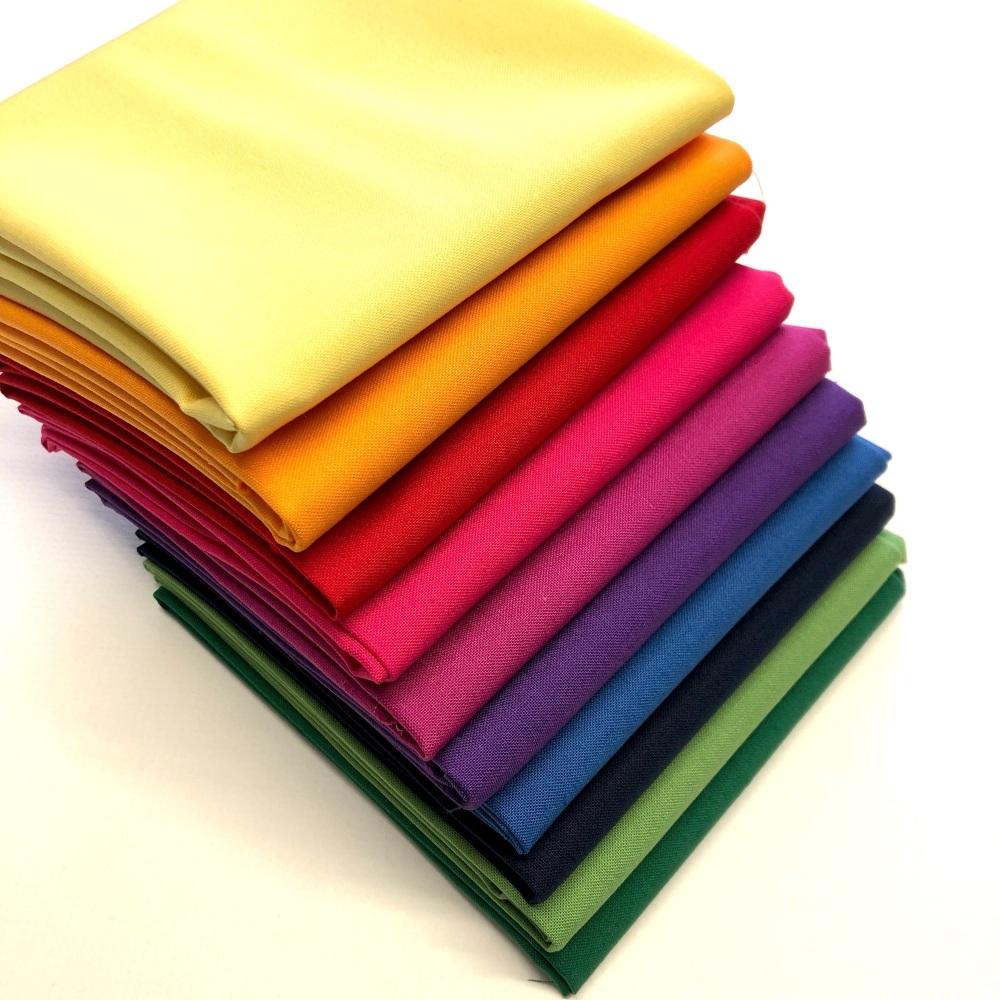 Spectrum Solids Fat Quarter Bundle V2 from Makower - 10 pieces
