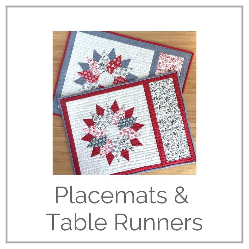 Placemat & Tablerunner patterns - digital