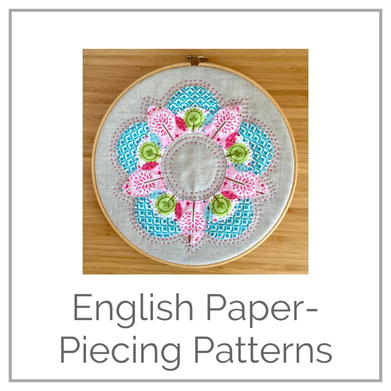 English paper-piecing patterns - digital